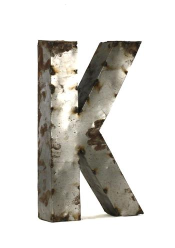 Industrial-Rustic-Metal-Small-Letter-K-H-2996