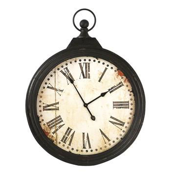 Rustic-Iron-Large-Pocket-Watch-Wall-Clock