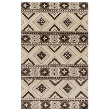 Santa Fe Rustic Lodge Southwestern Grey Charcoal Wool Rug
