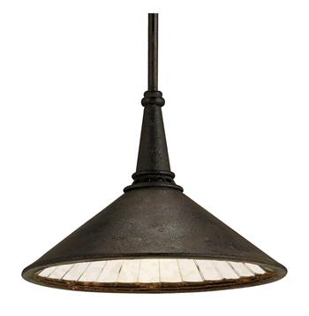 rustic industrial hanging pendant