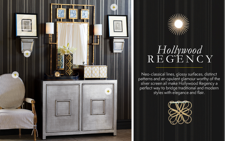 . Hollywood Regency Furniture  Lighting   Home Decor   Kathy Kuo Home