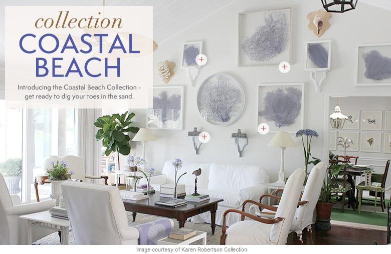 Coastal beach furniture lighting home decor kathy kuo for Beachy decor items