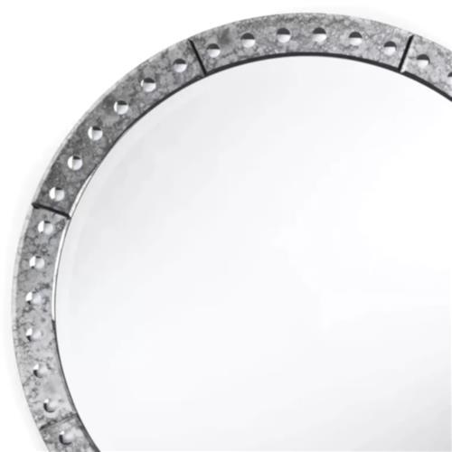 Regina Andrew Venetian Hollywood, Venetian Large Round Silver Wall Mirror