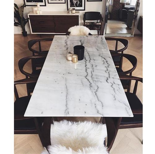 Corra Modern White Marble Brushed Steel Dining Table 31 D 40 D Kathy Kuo Home
