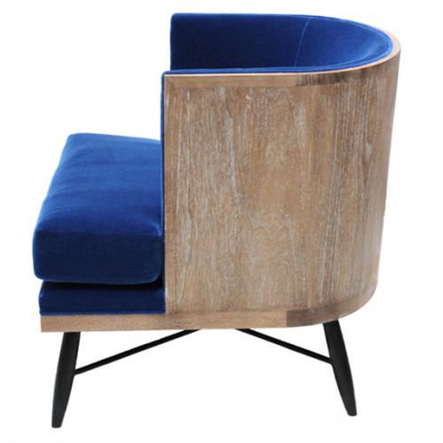 Surprising Oly Studio Wyatt Royal Blue Mohair Lounge Chair Pdpeps Interior Chair Design Pdpepsorg