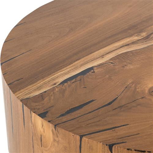 Redding Rustic Lodge Natural Wood Tree Trunk Round Coffee Table 31 W 40 W Kathy Kuo Home