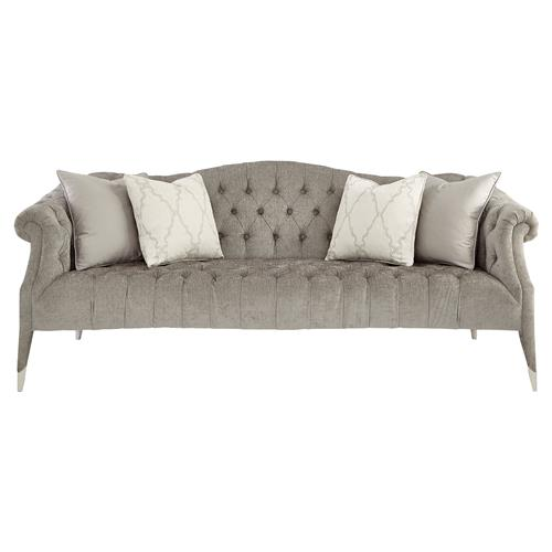 Super Melina Modern Classic Grey Chenille Upholstered Tufted Camelback Sofa Inzonedesignstudio Interior Chair Design Inzonedesignstudiocom