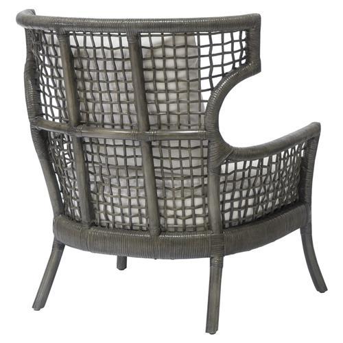Admirable Palecek Sutro Coastal Beach Grey Rattan Frame Outdoor Lounge Chair Alphanode Cool Chair Designs And Ideas Alphanodeonline
