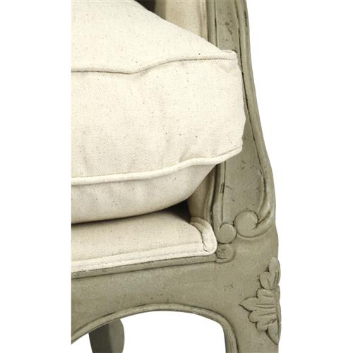 Surprising Adele French Country Distressed Sage Green And White Settee Loveseat Dailytribune Chair Design For Home Dailytribuneorg