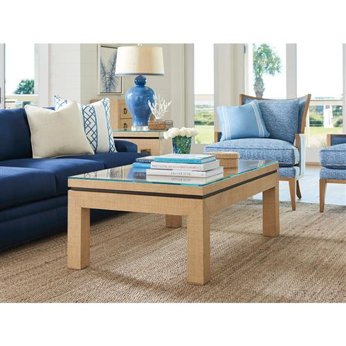 Phenomenal Barclay Butera Harbor Modern Tempered Glass Top Raffia Wrapped Coffee Table Bralicious Painted Fabric Chair Ideas Braliciousco