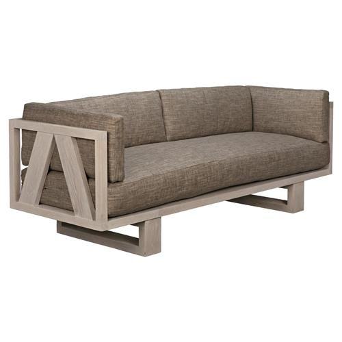 Tremendous Nella Modern Classic Grey Upholstered Washed Oak Wood Sofa Caraccident5 Cool Chair Designs And Ideas Caraccident5Info