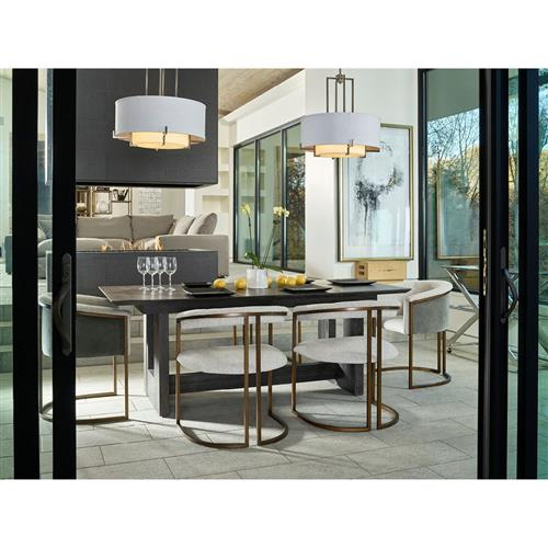 Ashley Modern Classic Dark Brown Wood Extendable Dining Table 82 102 31 D 40 D Kathy Kuo Home