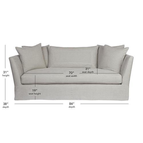 Cisco Brothers Seda Light Grey Linen, Light Grey Sofa Slipcover