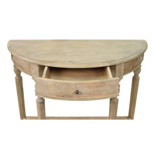 Astonishing Traditional French Country Style Demilune Console Table Gmtry Best Dining Table And Chair Ideas Images Gmtryco
