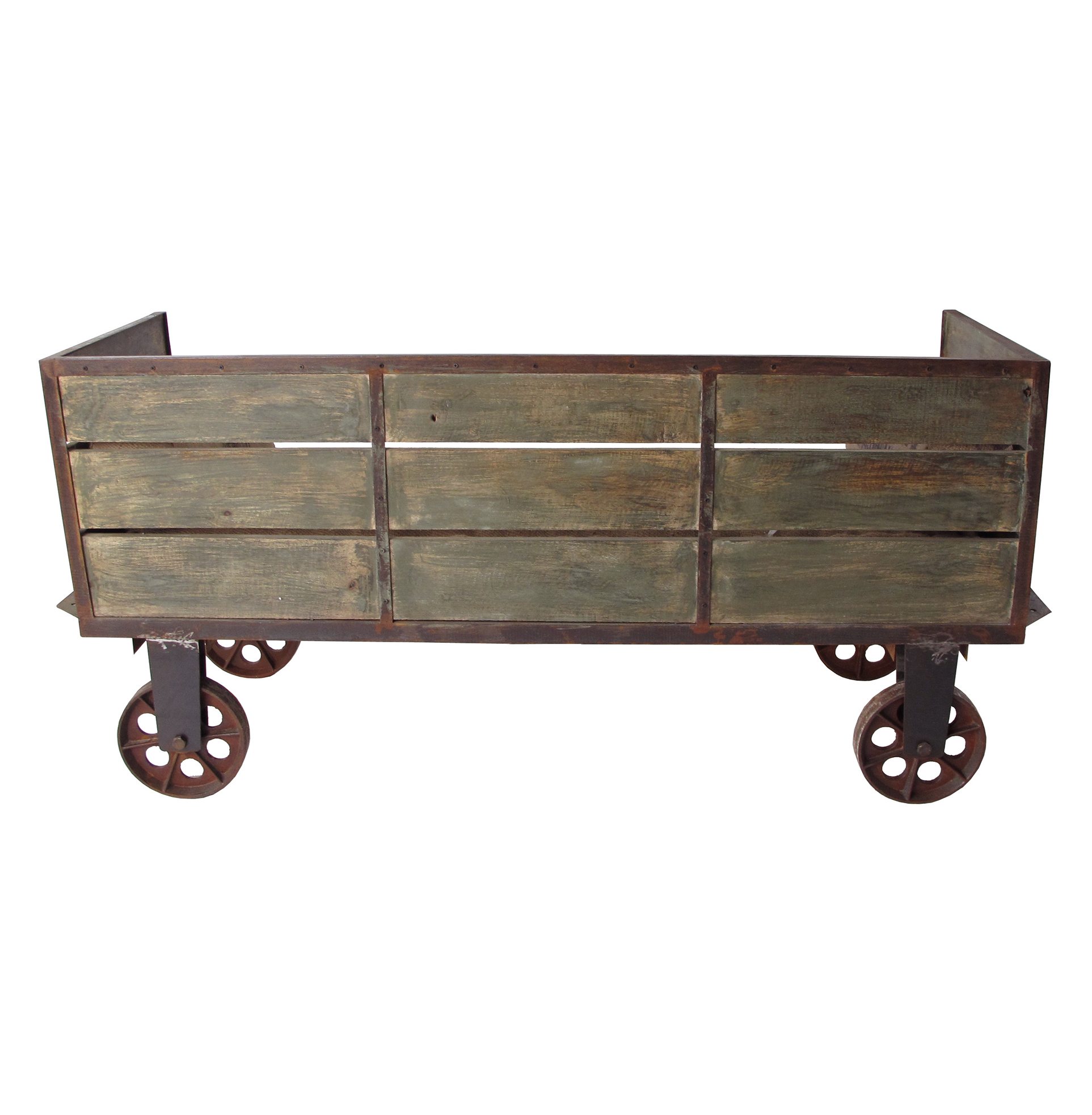 Limoges French Industrial Large Sofa Cart