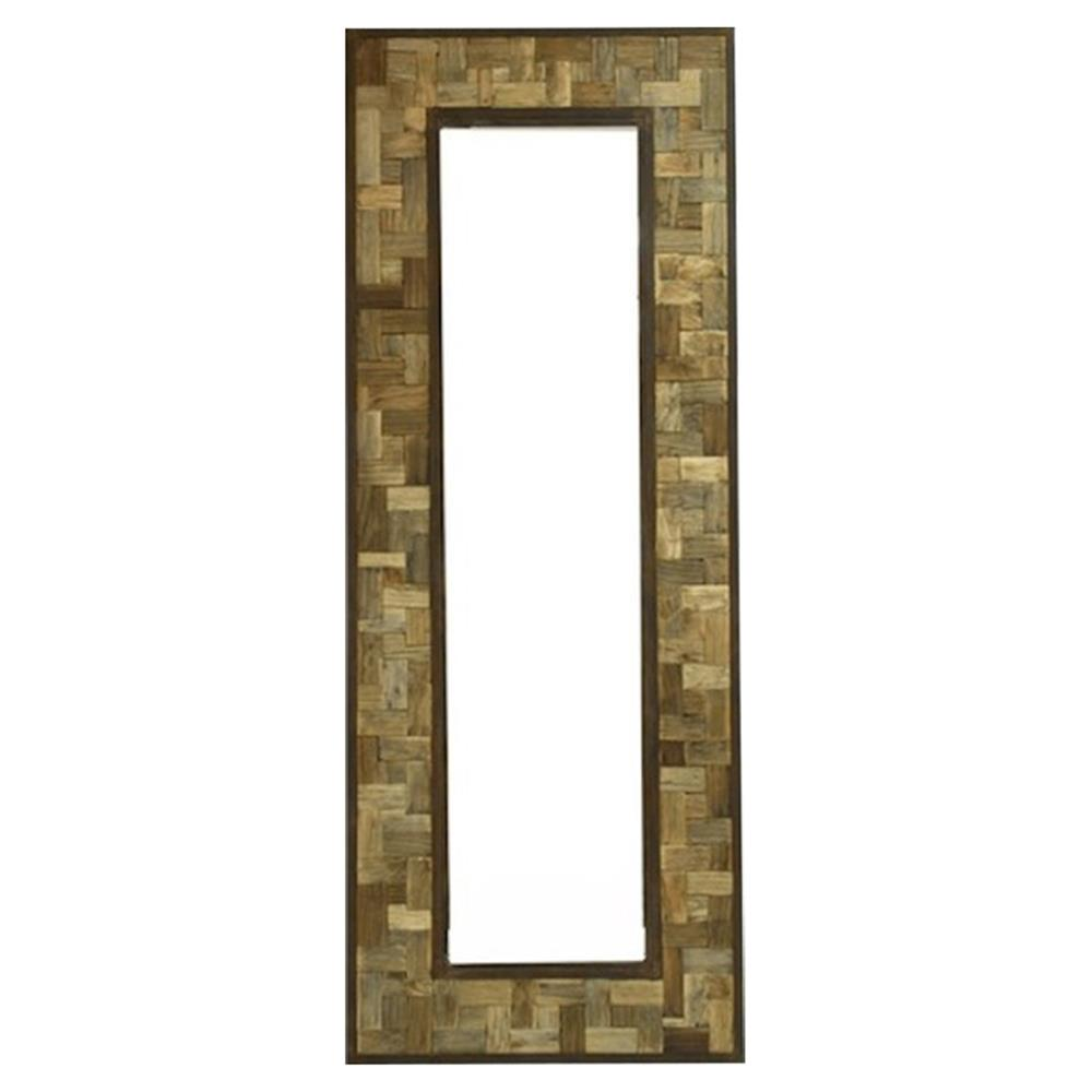 Reclaimed wood metal 30 x 80 leaning floor mirror kathy for Floor mirror