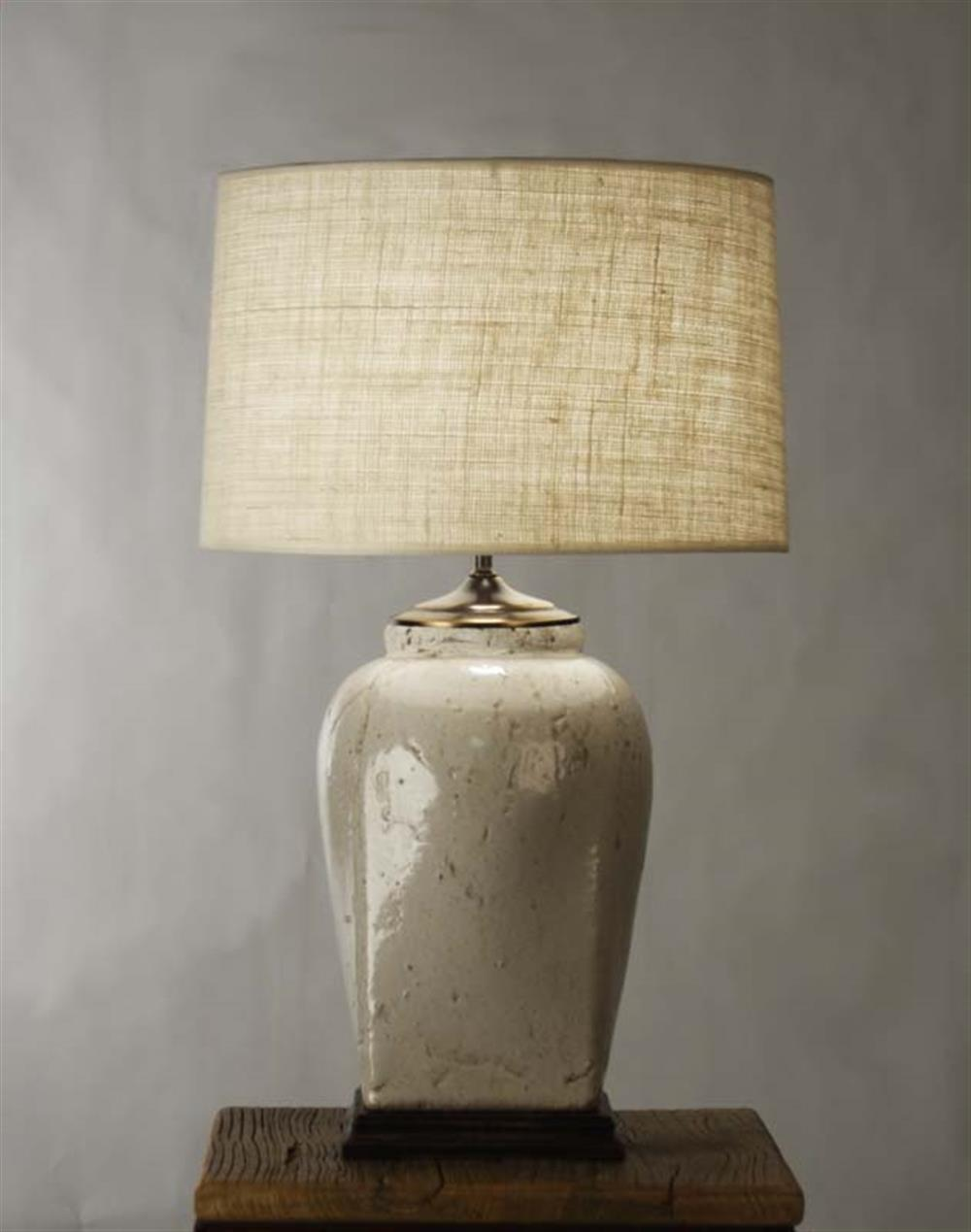 French Country Ceramic Linen Shade Table Lamp Kathy Kuo Home