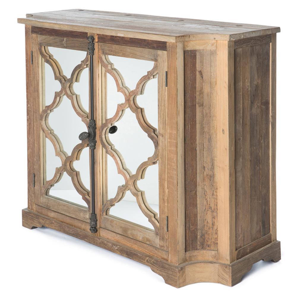 Wayside Wood Small Cabinet With Glass Paneled Door Kathy