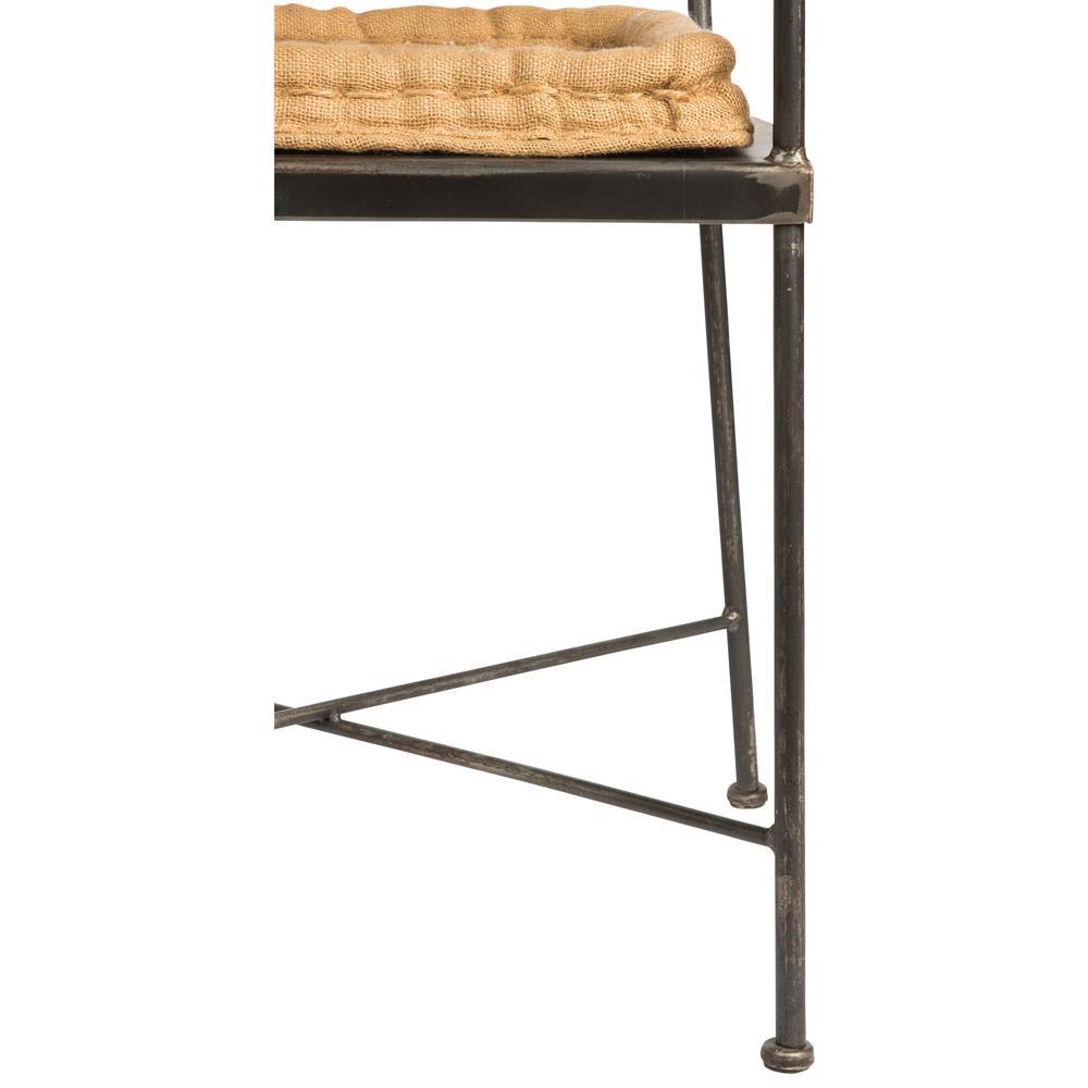 Room chairs schoolhouse industrial loft steel burlap seat dining