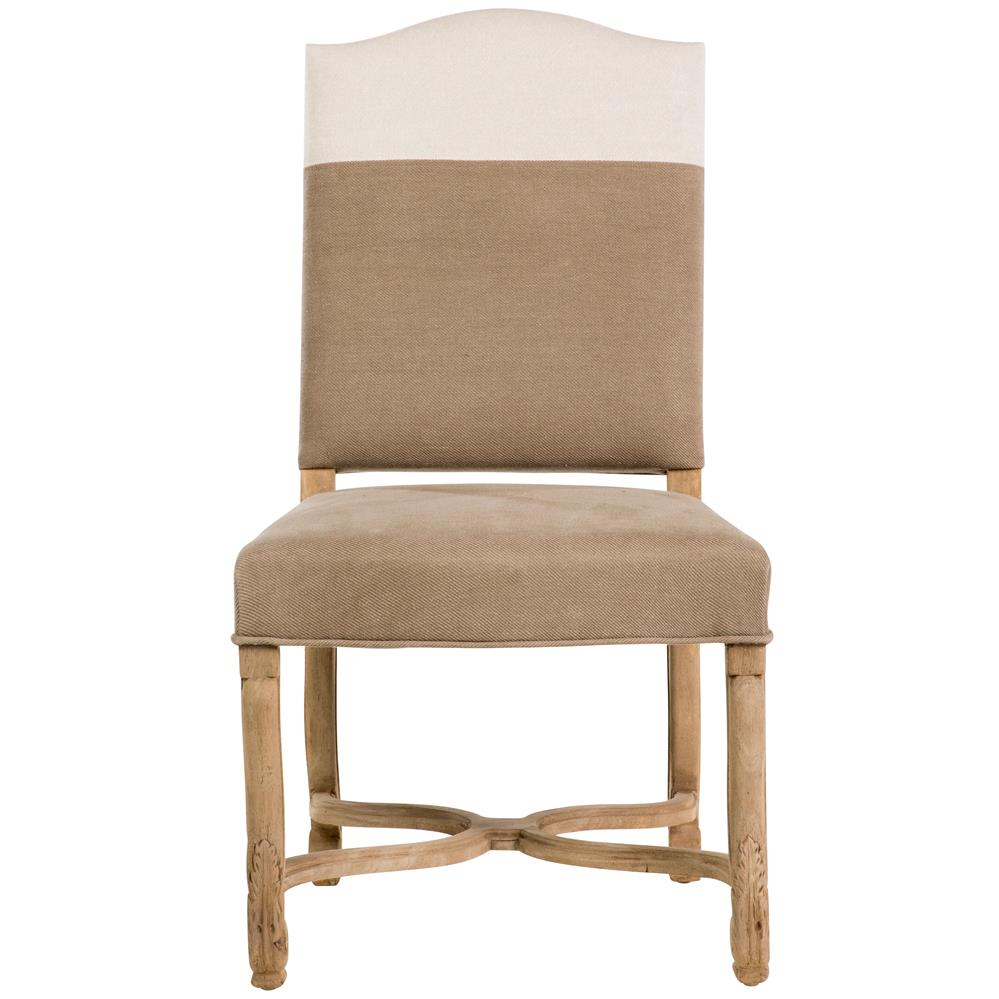 French Country Dining Room Chairs: Monaco French Country Brown White Upholstered Dining Chair