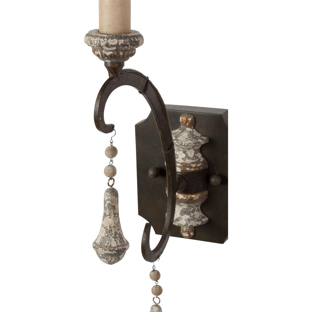 Epoch French Country Iron Grey Single Wall Sconce - Pair | Kathy Kuo Home  sc 1 st  Kathy Kuo Home & Epoch French Country Iron Grey Single Wall Sconce - Pair | Kathy Kuo ...