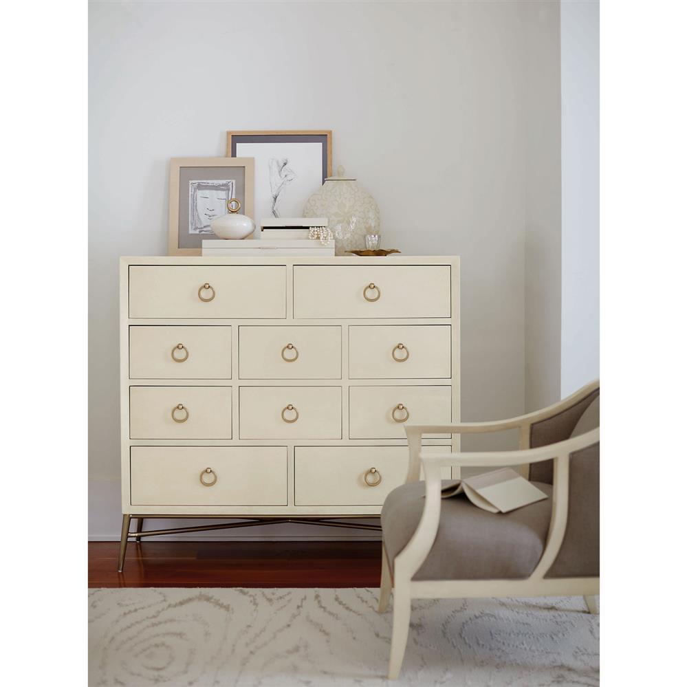 Dresser With Cabinet Oriana Modern Classic Ivory 10 Drawer Media Dresser Cabinet
