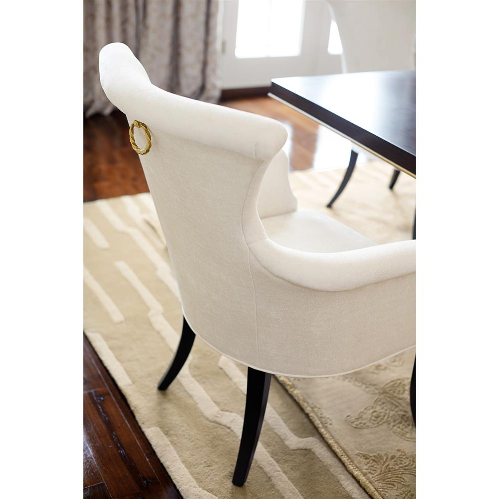 Modern classic armchair - Crawford Modern Classic Ring Pull Ivory Armchair Pair Kathy Kuo Home
