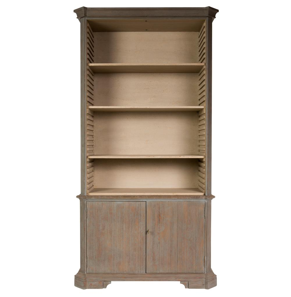 Fresca French Country Rustic Deep Grey Wooden Bookcase