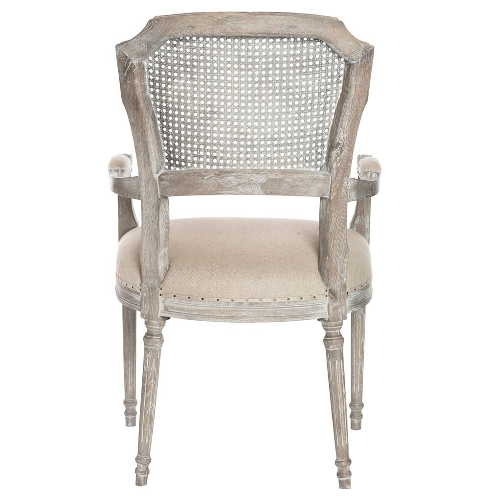Capulet French Country Caned Back Oak Dining Arm Chair