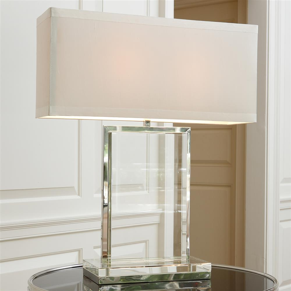 Tinsley Modern Classic Solid Crystal Clear Table Lamp ...