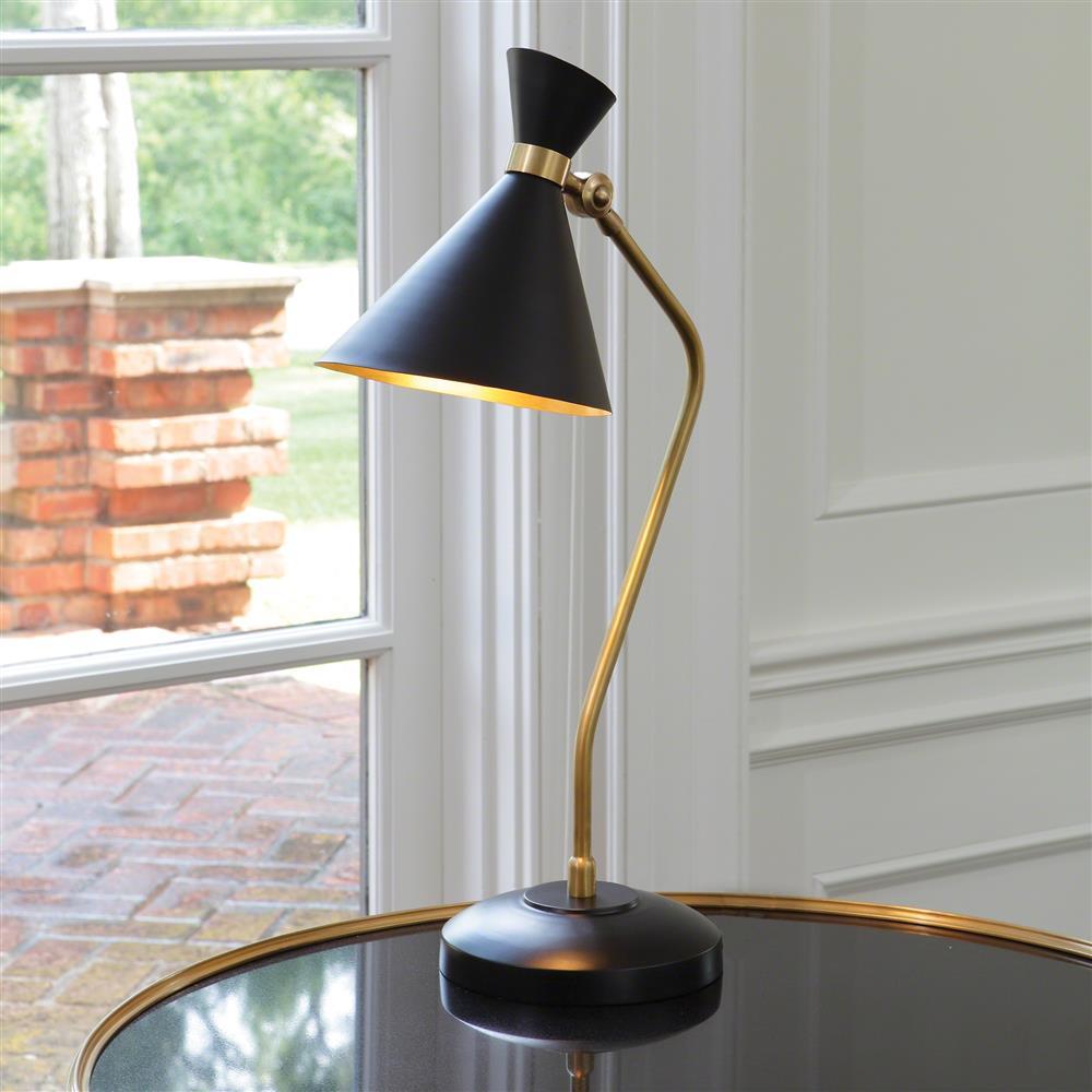 Melrose Mid Century Brass White Shade Floor Lamp: Mercer Mid Century Modern Spun Brass Metal Bronze