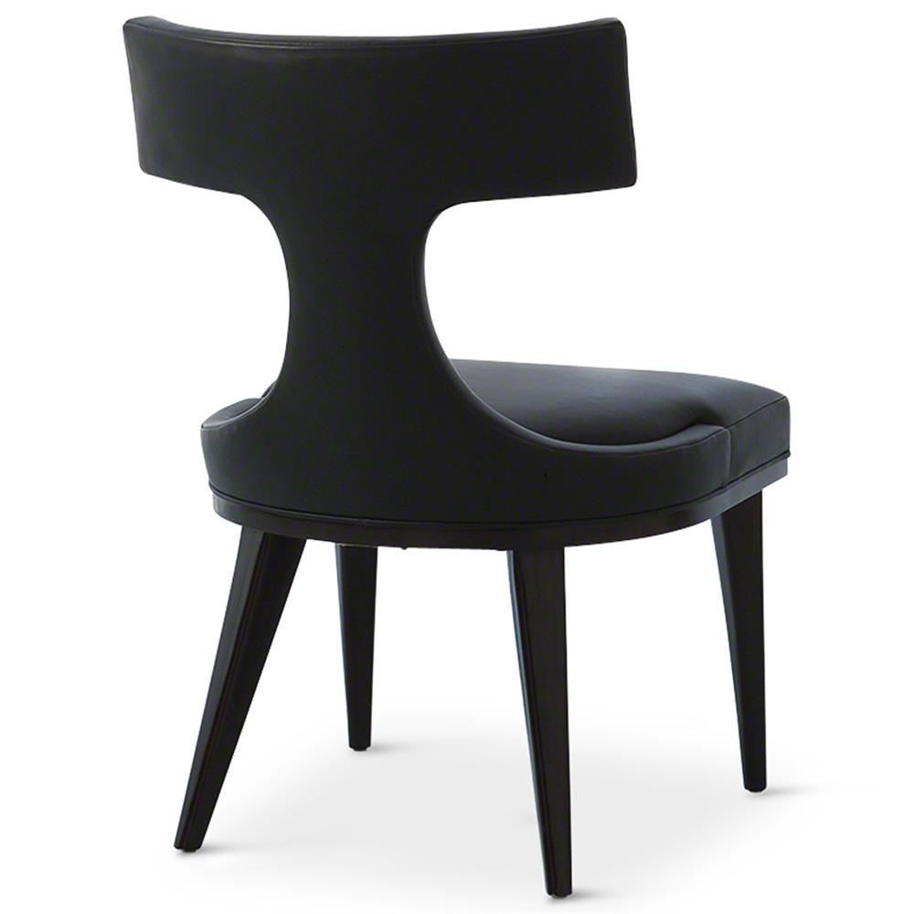 truman modern classic black leather upholstered anvil dining chair. Black Bedroom Furniture Sets. Home Design Ideas