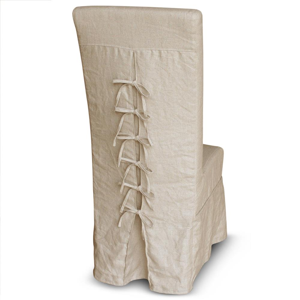 french dining room chair slipcovers. Corset Back French Country Ecru Linen Slipcover Dining Chair | Kathy Kuo Home. View Full Size Room Slipcovers E