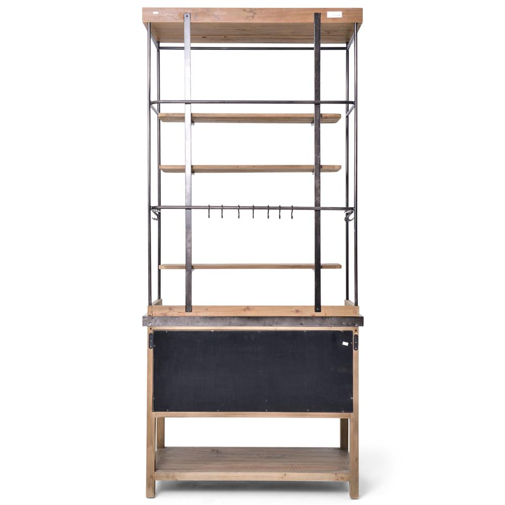 ... Callie French Country Pine Iron Zinc Display Case Buffet Cabinet |  Kathy Kuo Home ...