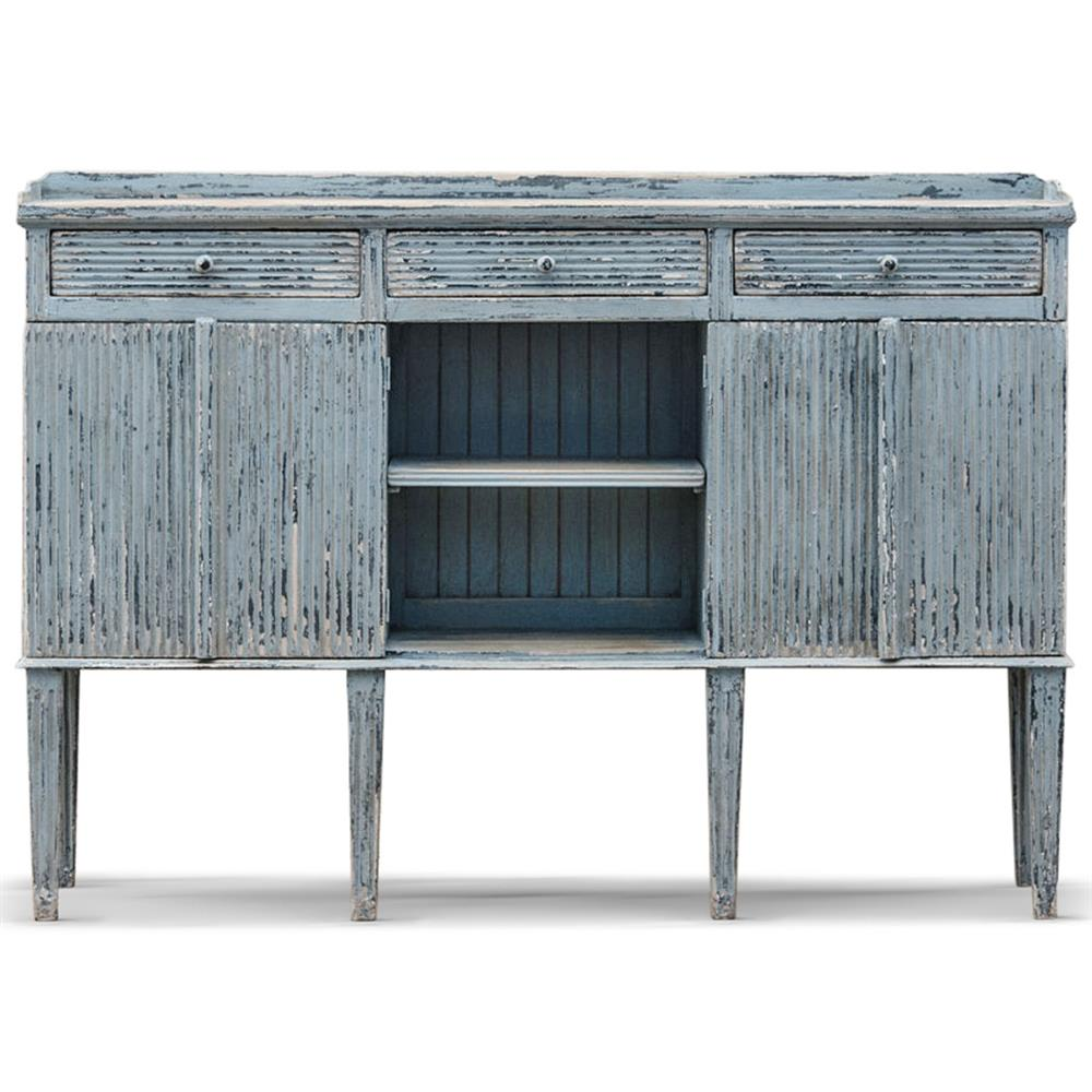 view full size ... - Peitro French Country Weathered Antique Blue Wood Sideboard Buffet