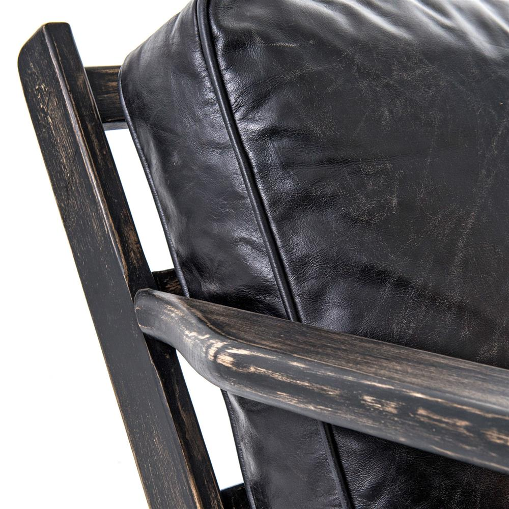 Black leather arm chair - Black Leather Arm Chair 25