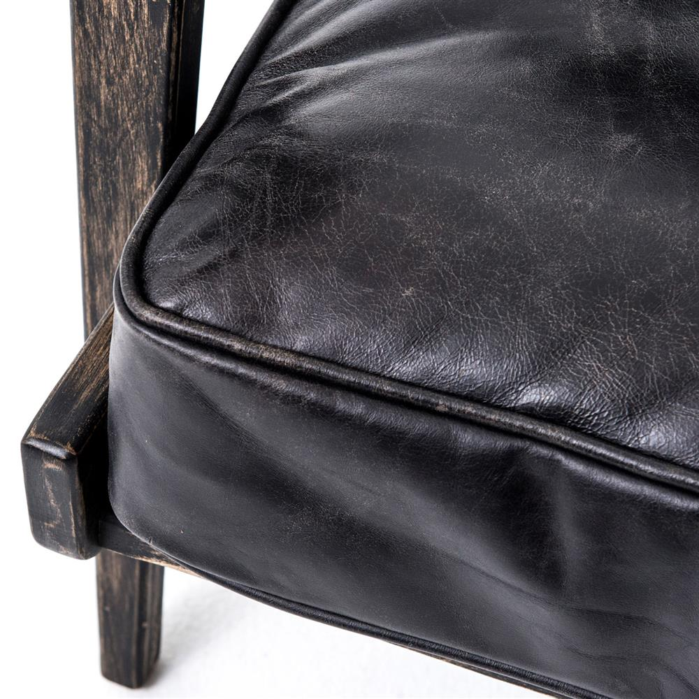 Black leather arm chair - Black Leather Arm Chair 32