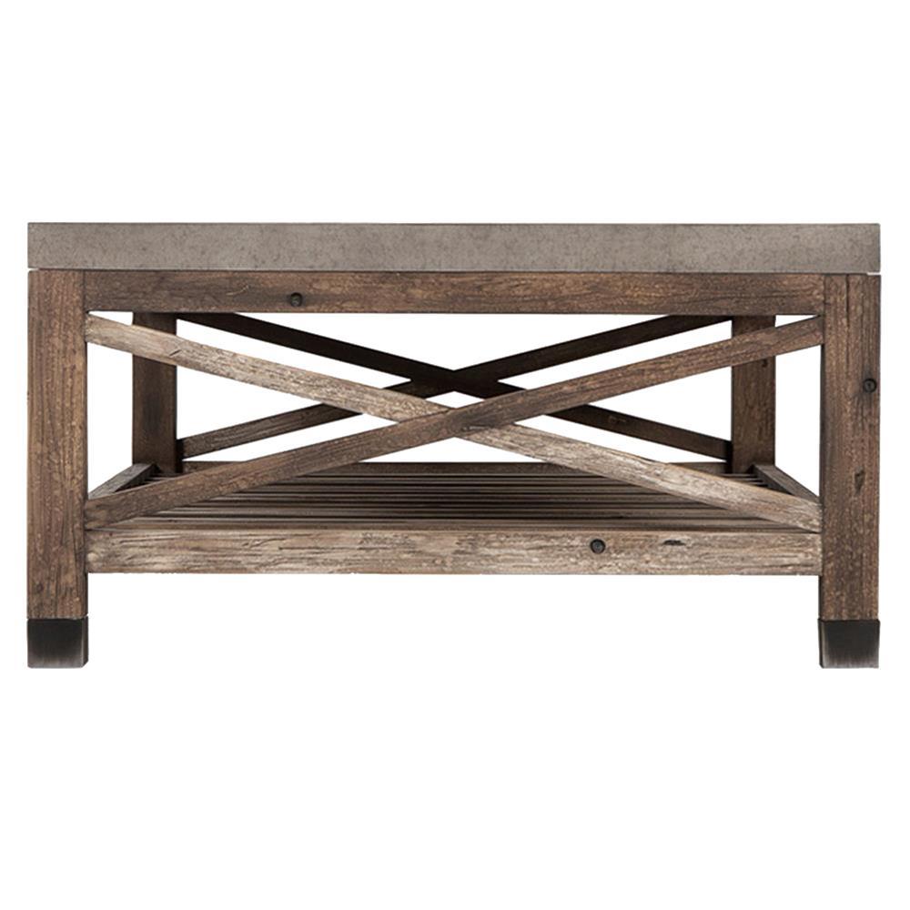 Wood St Martin Coffee Table: Martin Rustic Lodge 2 Tier Wood Coffee Table