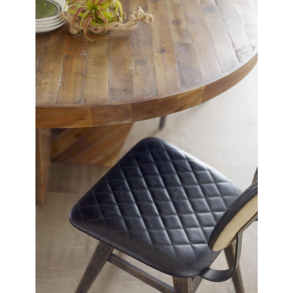 Drifter Industrial Loft Black Leather Quilt Charcoal ...