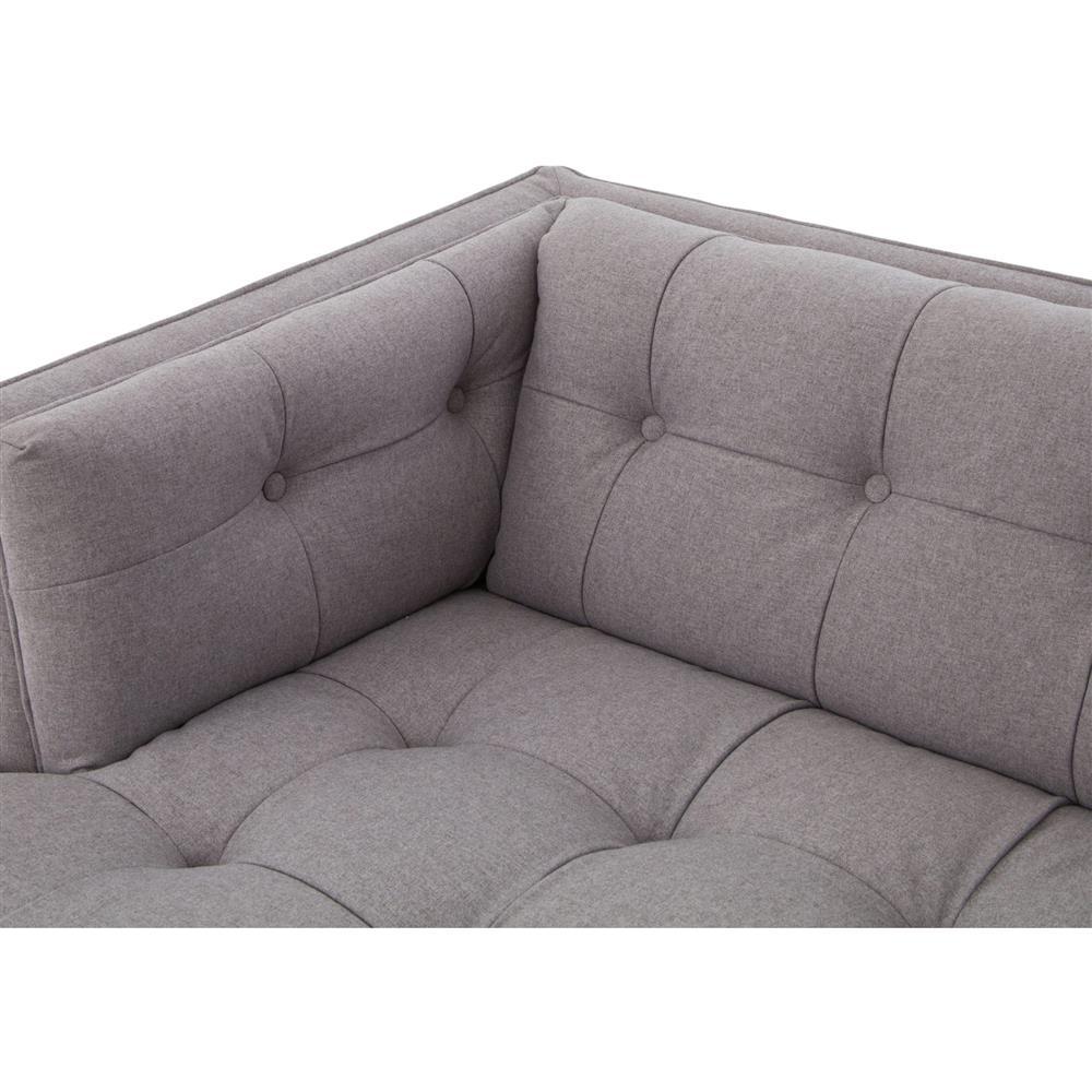 Saville Modern Classic Tufted Grey Fabric Upholstered Sofa Kathy - Tufted upholstered sofa