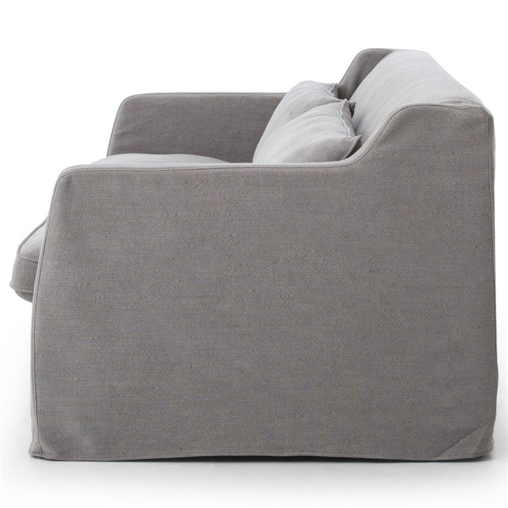 form slipcover darkpewter bay gale fit slipcovers solid home grey collection stretch velvet velvetplush products couch great by sofa plush