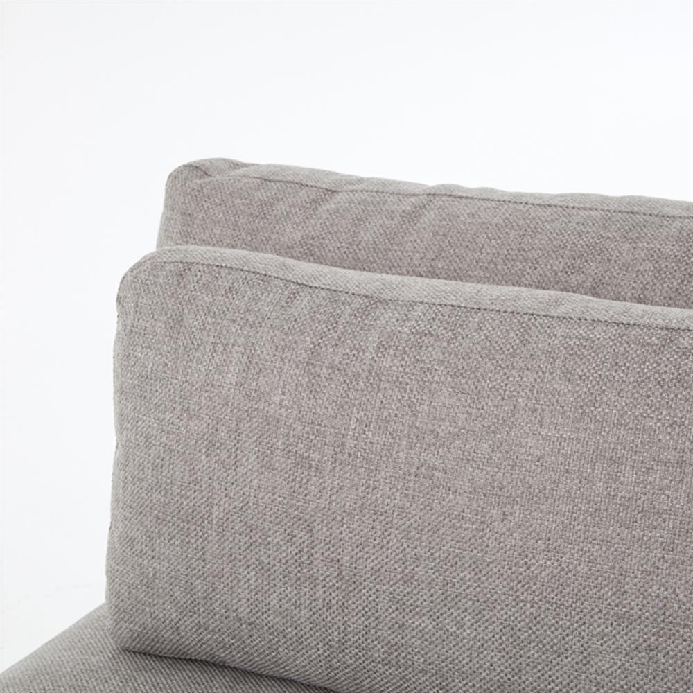 sofa sectional blue jordan set gray grey linen fabric