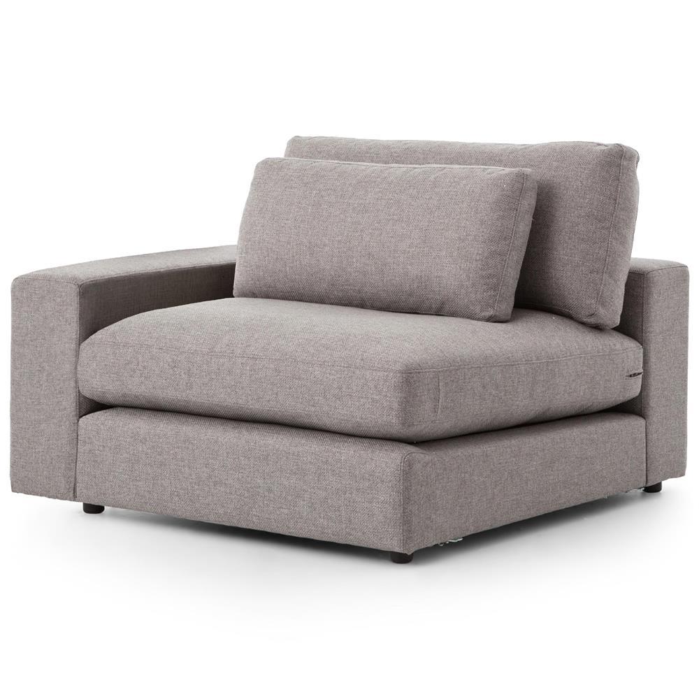 Modern Sectional Sofas Grey: Cornerstone Modern Classic Grey Fabric Sectional Sofa