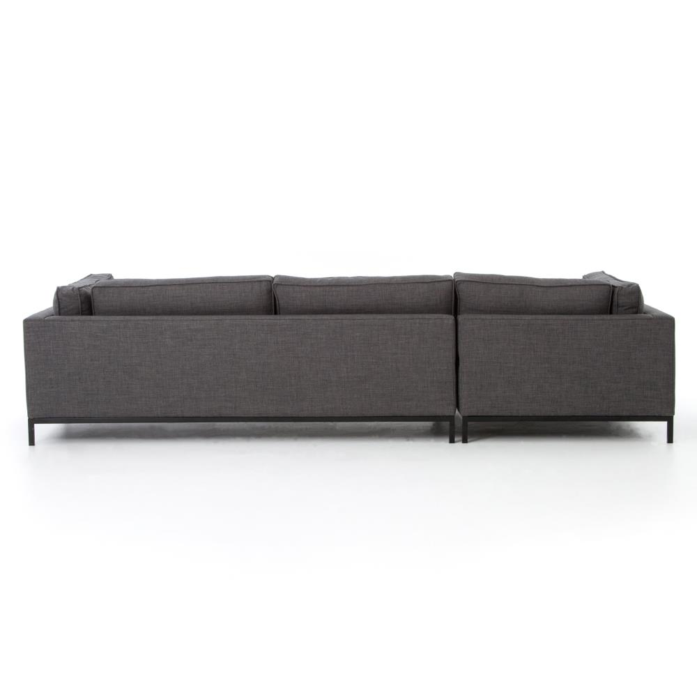 Diorama modern classic charcoal left arm chaise sectional for Sofa modern classic