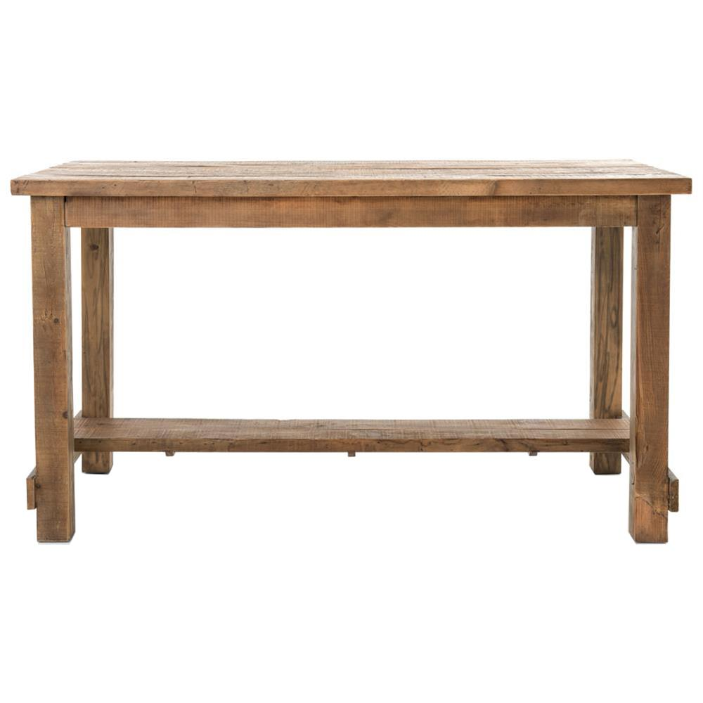 Lundin Rustic Lodge Reclaimed Bleached Pine Dining Bar Table Kathy