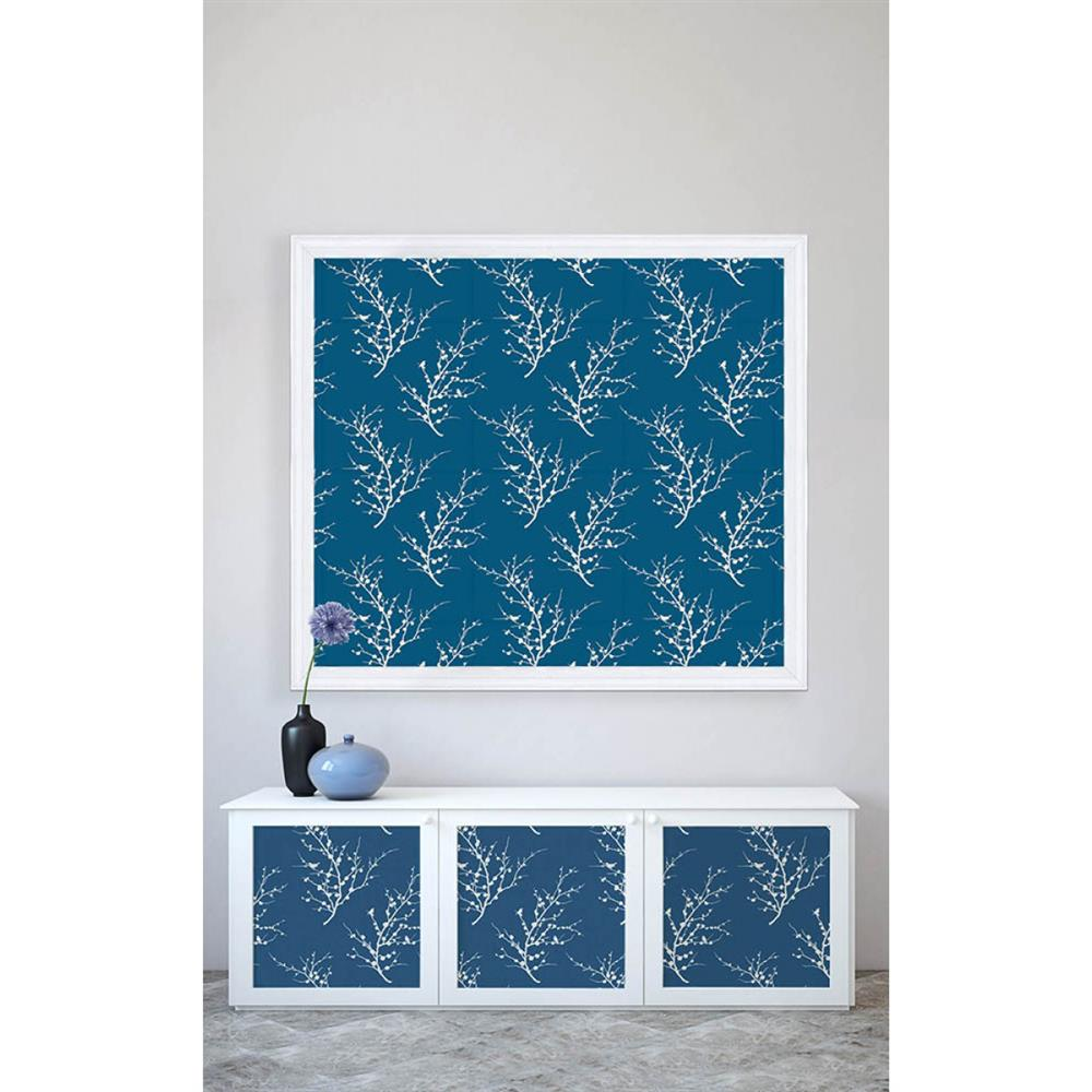 Sprig Modern Classic Frosted Teal White Removable