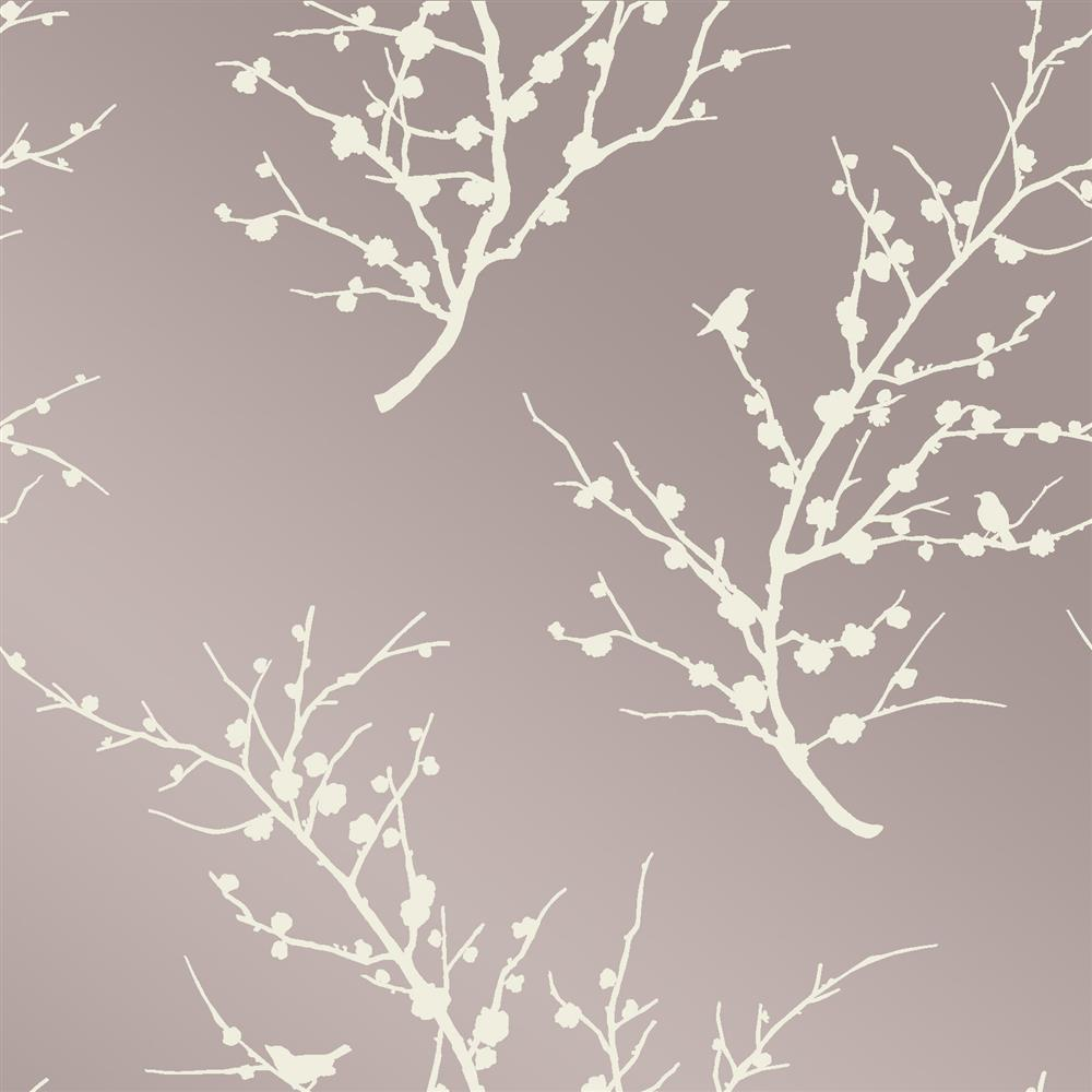 Sprig modern classic metallic champagne ivory removable for Metallic removable wallpaper