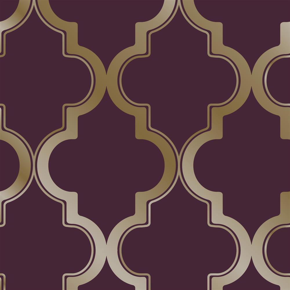 moroccan trellis global bazaar merlot gold removable