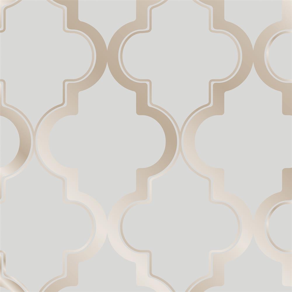 Neutral Trellis Wallpaper: Moroccan Trellis Global Bazaar Grey Beige Removable Wallpaper