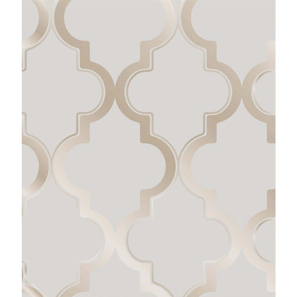 Moroccan trellis global bazaar grey beige removable wallpaper for Moroccan style wallpaper